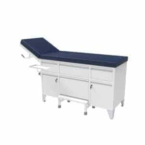 Mobile patient examination couch with wheels