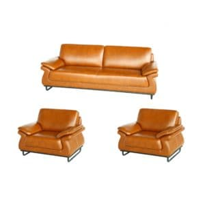 Two plus two single seater light brown colour seat foam and back foam hospital waiting room sofa