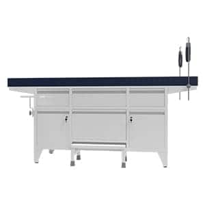 Examination Couch designed with Provision Of Rods With Belt For Lithotomy Position Examination of patients