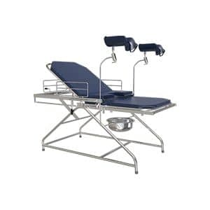 Stainless Steel Frame Work Patient Examination Couch With Lithotomy