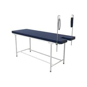 Simple and functional patient examination couch with lithotomy rod