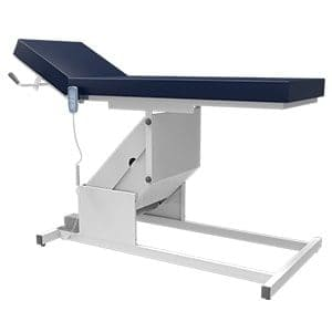 Patient examination couch with motorized height adjustable function