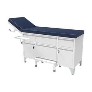 Patient examination couch designed to adjust headrest with gas spring