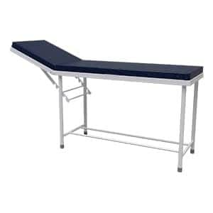 Simple clinical patient examination couch with headrest adjustment