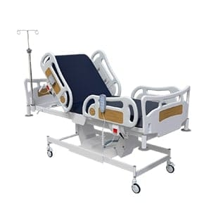 Height Adjustable ICU Bed With Centralized Control For Castor Locking