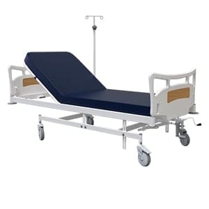 ICU Bed With Collapsible Handle For Backrest