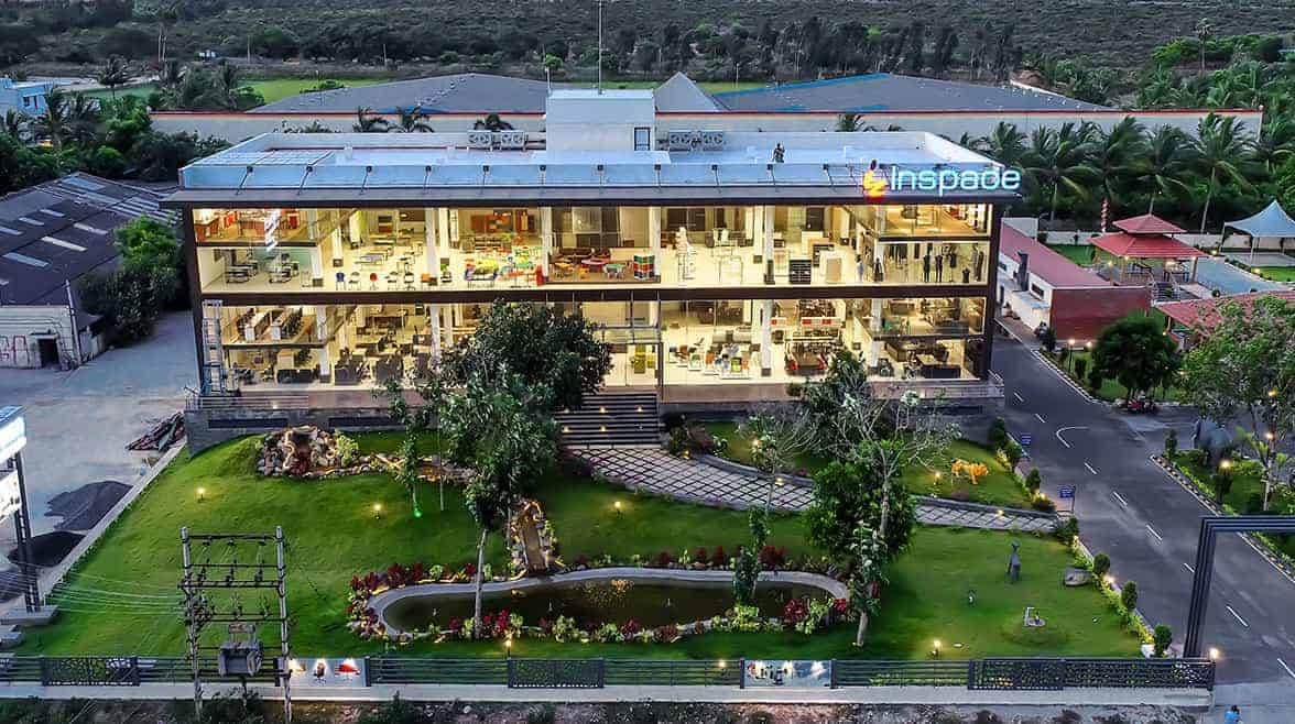 Top view of Inspace furniture solutions building