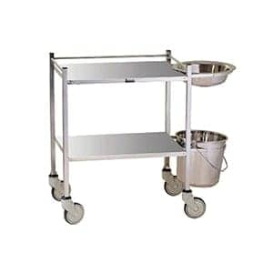 Medical Instrument Trolley With Stainless Steel Railing With Wash Basin