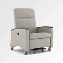 Cozy White Colour recliner displayed in white Background from Inspace Healthcare furniture