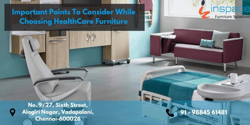 Comfortable and elegant looking patient room furniture